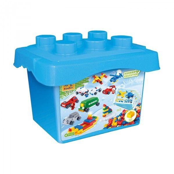 【BanBao 積木】基礎教育積木系列-小積木桶DIY-交通工具 6552