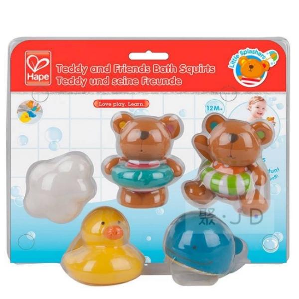 【德國 Hape】泰迪熊洗澡小夥伴