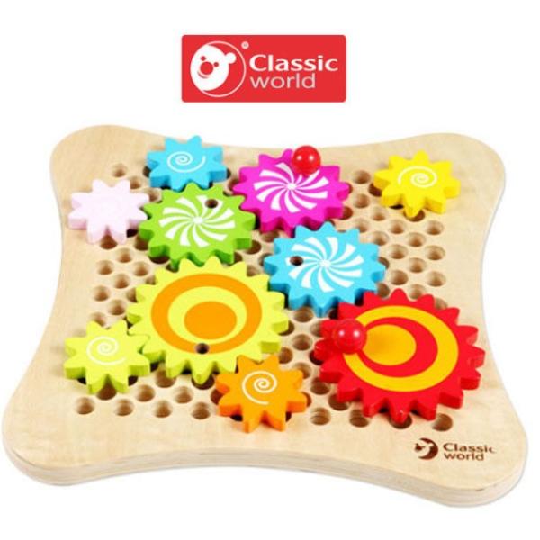 【德國 classic world 客來喜】經典木玩-齒輪遊戲 CLA2806
