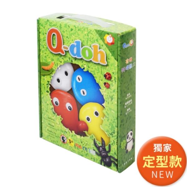 【Q-doh】A+B定型矽膠有機黏土(4色工具組) 21110403