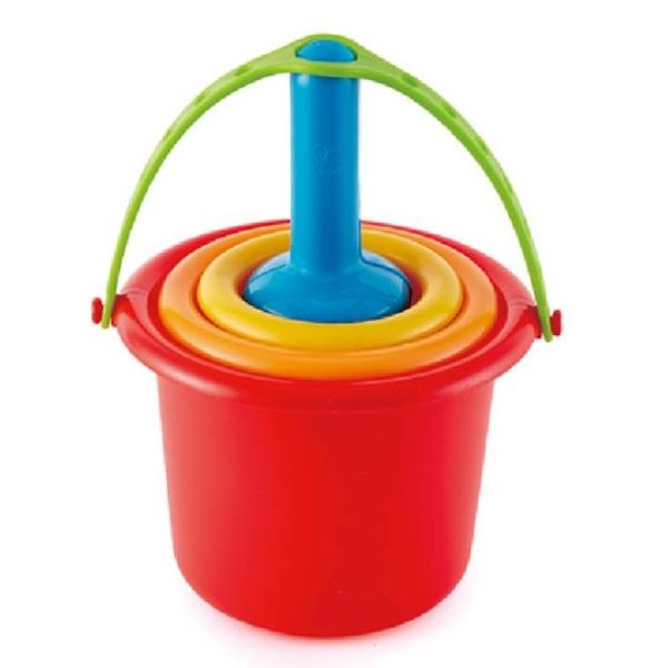 【德國 Hape】夏日戲水 - 五合一挖沙玩具套組