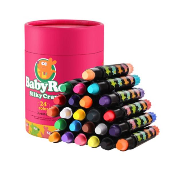 西班牙兒童滑順蠟筆24色