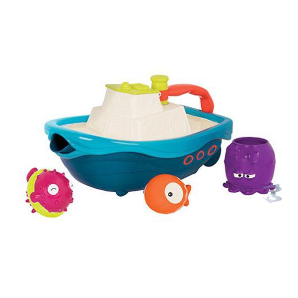 【美國 B.Toys 感統玩具】 拖船小跟班 BX1520Z