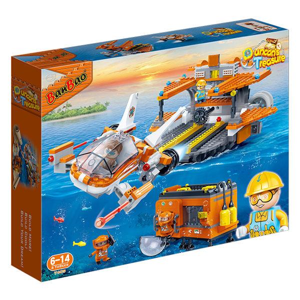 【BanBao 積木】海洋系列-探險救援隊 7409