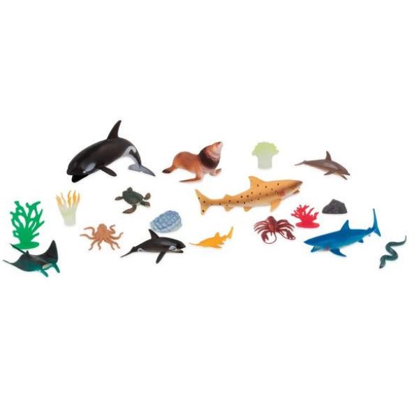 【美國 B.Toys 感統玩具】TERRA 海洋世界(情境桶)60PCS AN2772Z