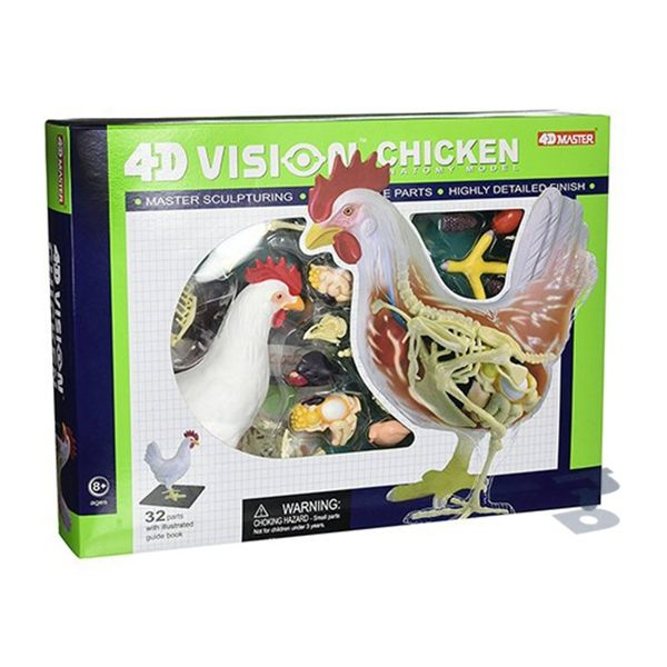 【4D MASTER】立體拼組模型-透視-雞 26003