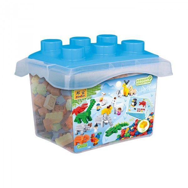 【BanBao 積木】基礎教育積木系列-小積木桶DIY-動物園 6551